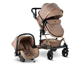 Babyhope BH-3007 Runner Travel Bebek Arabası Gold